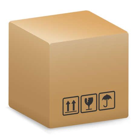 brown box: Imballaggio di spedizione  Vettoriali