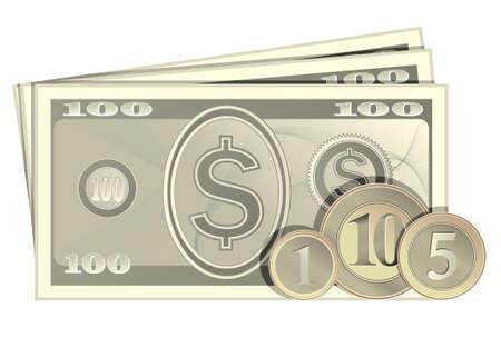 stack of cash: Dinero en efectivo. Los billetes y monedas