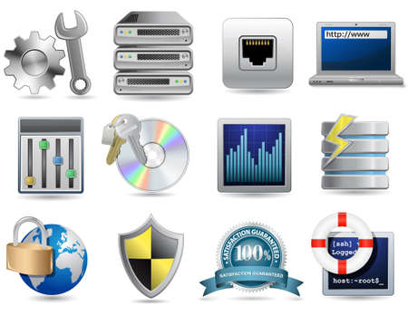 Universal Icon Set - Web Hosting Vector