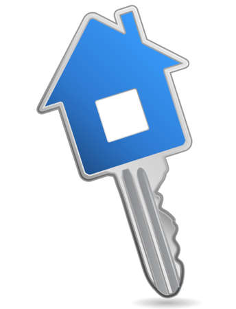 house mortgage: House key. Concept of real estate.