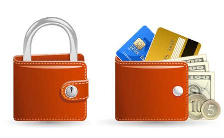 personal banking: Concetto di sicurezza denaro  Vettoriali