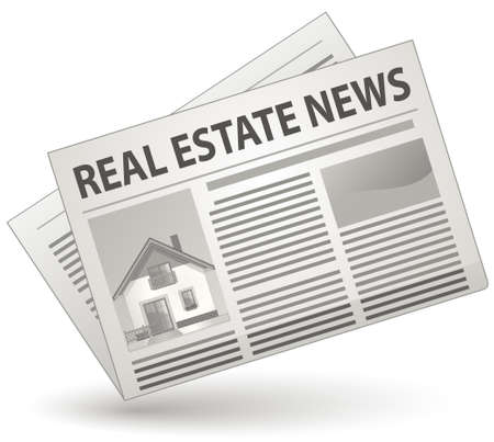 newspaper articles: Real Estate News Concept.