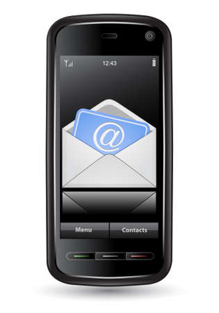 Mobile phone with email. It's original, not derived from existing product Stock Vector - 6634328