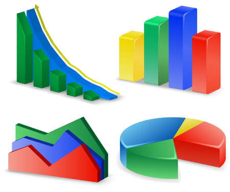 Charts and Graphs Collection. Reports set. Vector