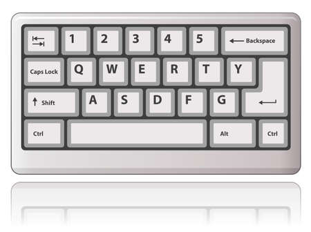 Tastiera bianco. illustrazione.