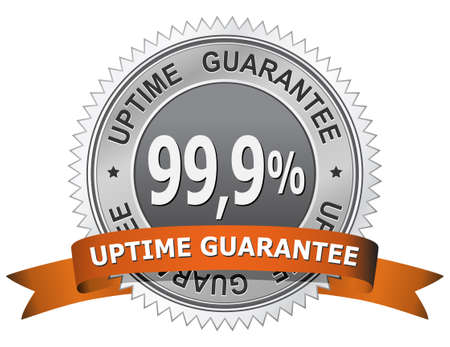 99,9 % Uptime Guarantee Sign Stock Vector - 6815615