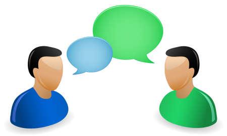 socializando: Concepto de comunicación. Un grupo de gente un conversando.