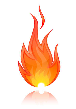 single object: Illustration of Fire Illustration