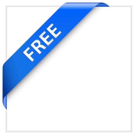 nastro angolo: Angolo blu della barra multifunzione. Prodotto gratuito. Download gratuito.  Vettoriali