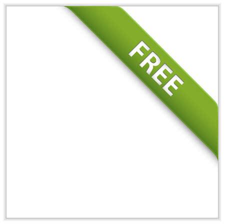 Green corner ribbon. Free Product. Free Download. Zdjęcie Seryjne - 6815593