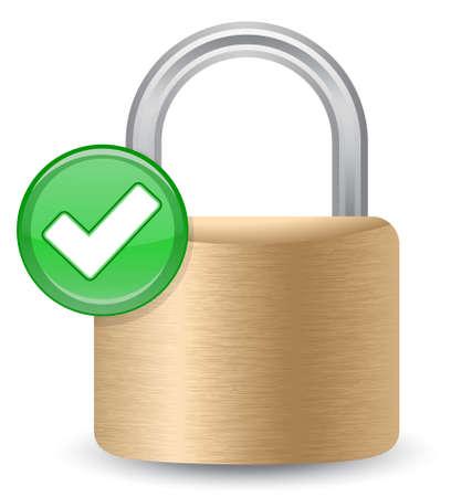security-complete-ok-01(0).jpg Stock Vector - 8142378