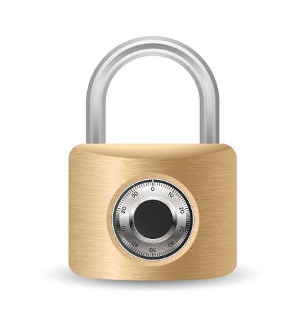 Metallic combination padlock