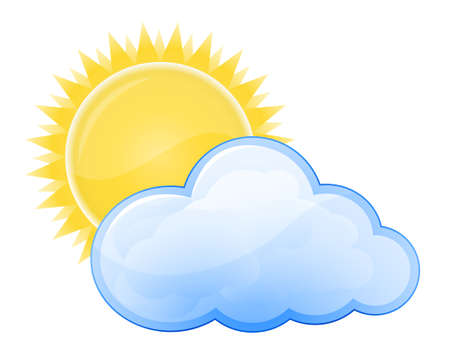 wheather: Weather forecast glossy icon - Cloudy