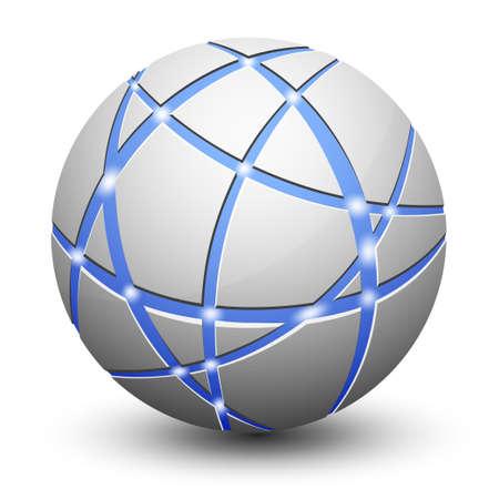 atomo: Icono de globo abstracta. Concepto de red y la comunicaci�n.