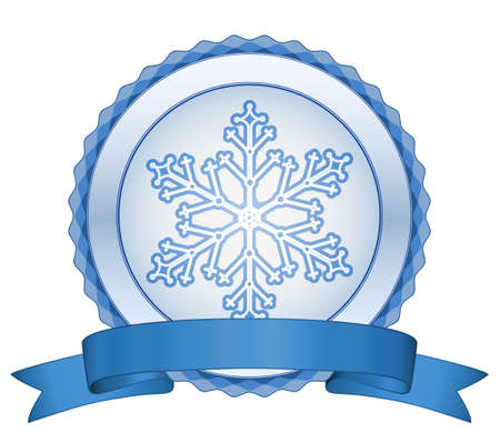 Christmas snowflake label. Christmas sale Vector