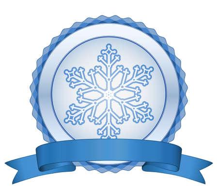 Christmas snowflake label. Christmas sale Vector