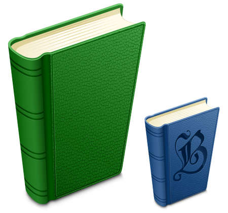 Highly detailed illustration of textured cover books. Illustration