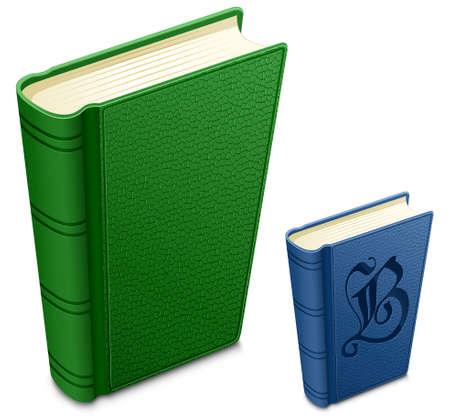 leerboek: Zeer gedetailleerde illustratie van structuur cover boeken. Stock Illustratie