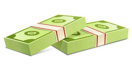 greenbacks: Pack of dollars.  Packs of dollars money