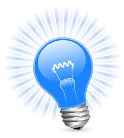 lightbulb idea: Lampadina con travi a vista Vettoriali
