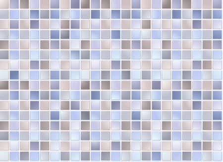 bad fliesen: Nahtlose blauen quadratischen Fliesen Muster