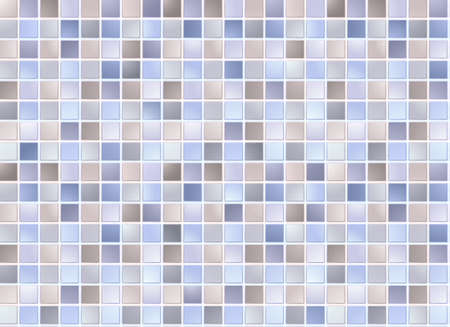 Seamless blue square tiles pattern Vector
