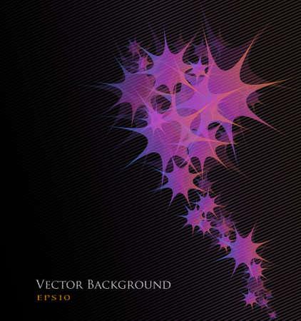 estrellas moradas: Abstracto fondo de vector. Estrellas p�rpuras