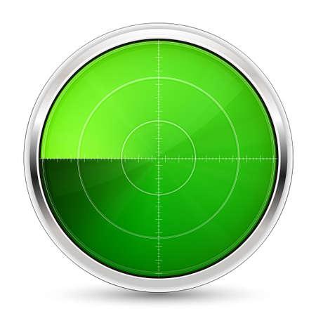 Vector illustration of radar or oscilloscope monitor Reklamní fotografie