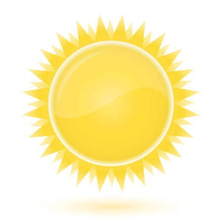 wheather forecast: Sun. Weather forecast glossy icon.