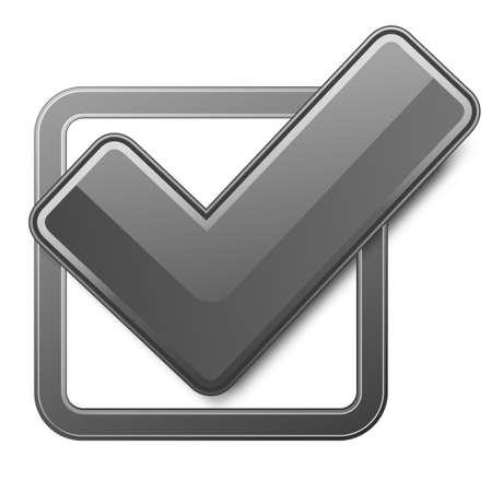 voting box: Casella di controllo nera con il segno di spunta.
