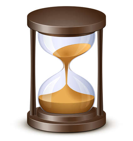 Hourglass. Sand watch. Highly detailed vector illustration Illustration