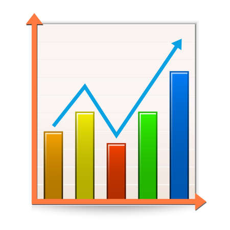 financial figures: Chart icon.Illustration of Report Illustration