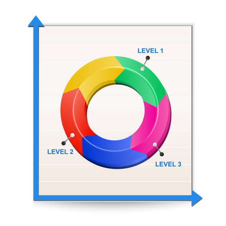 Chart icon. Illustration of Report Vector