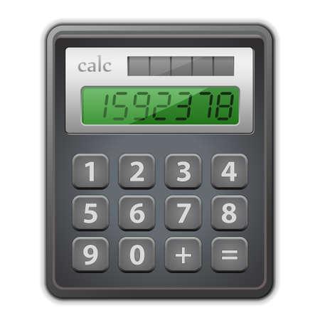 Detailed vector illustration of calculator.  Ilustracja