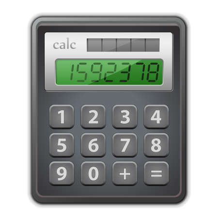 Detailed vector illustration of calculator.  Illustration