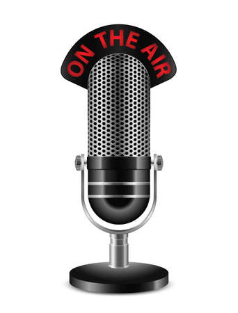 old microphone: On The Air Microphone. Vector illustration Illustration