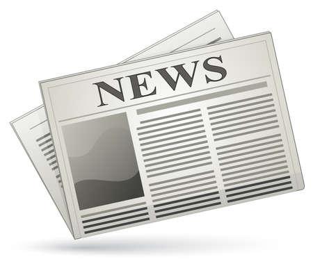 Newspaper icon. Vector illustration of newspaper Illustration