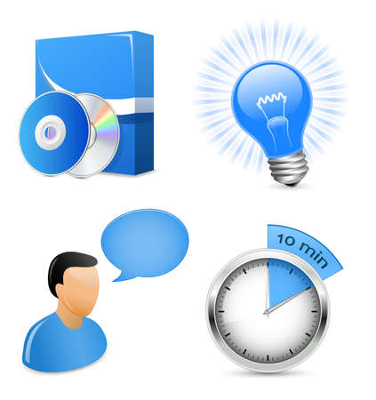 software development: Vector Icons for Software Development Company or IT solution provider Illustration