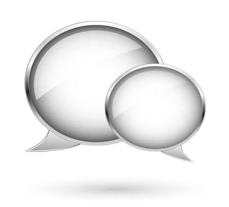 Clouds, tags and bubbles for website. Dialog bubbles Illustration