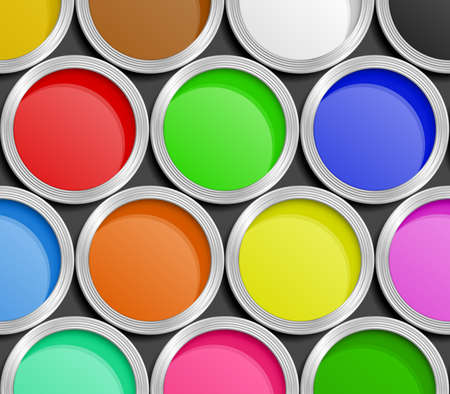Paint Cans. Vector Illustration Vector