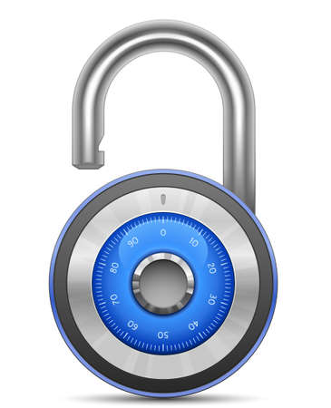 Combination Lock Collection. Security Concept. Vector illustration of padlock Vector