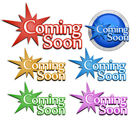 Coming soon signs. Vector illustration