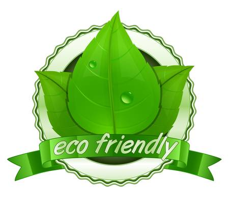 Eco friendly. 100% Natural.  natural label Stock Vector - 9878230