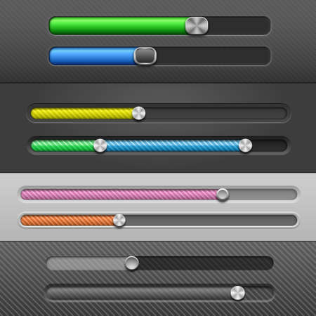 slider: Web Design Elements: Slider Bars. Vector Illustration Illustration