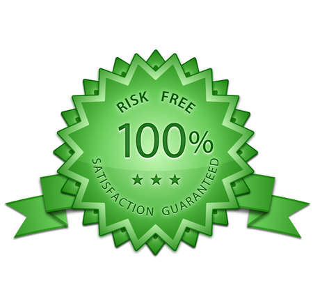 100 % Satisfaction Guaranteed Signs. Risk Free Sign. Vector illustration Vector