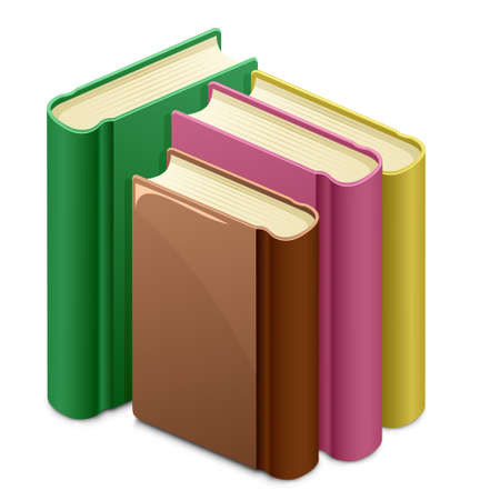 Library. Group of books. Vector illustration Illustration