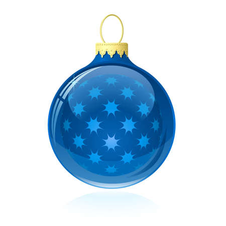babble: Blue Christmas bauble.