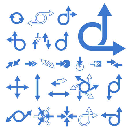 diminishing point: Arrow Signs Collection. Vector illustration Illustration