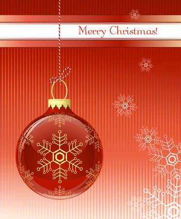 Christmas card. Christmas bauble. Vector illustration Vector