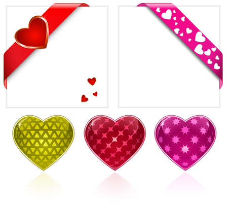 Valentine's Day. Hearts Collection. Vector Illustration Stock Illustration - 11889095